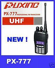 Puxing Px-777 Uh 465-520mhz Uhf de Radio Ham + Prog Cable -