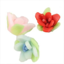 20x Mixed Flowers FIMO Polymer Clay Beads 14mm 111251