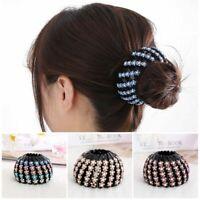 Crystal Hair Bun Maker Hair Fold Wrap Bird Nest Hair Claw Ponytail Clamps