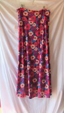 LULAROE RED GOLD BLUE PURPLE FLORAL MAXI SKIRT SIZE 2XL NEW