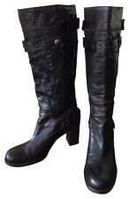 Women's OXS Leather Brown Boots Size 7
