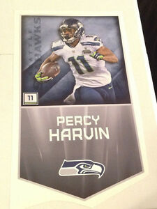 """Percy Harvin FATHEAD Official Player Banner 29"""" x 16"""" Seahawks Wall Graphics"""