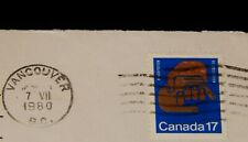 Vintage Cover,CANADA POSTAL HISTORY,1980, VANCOUVER, BC, Rehabilitation, Helping