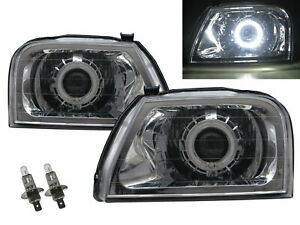 L200 MK1 96-01 Guide LED Angel-Eye Projector Headlight Chrome for Mitsubishi LHD