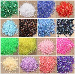 5000 pcs Rhinestone AB Milk Jelly 2mm 3mm 4mm 5mm 6mm Flatback Resin Crystal #01