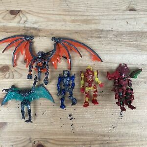 Vintage Bandai 1998 Dinozaurs Lot Of 5 Complete/Incomplete Missing Parts