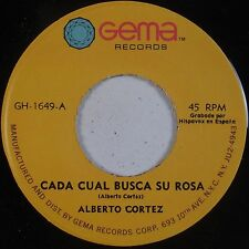 ALBERTO CORTEZ: Cada Cual Busca Su Rosa GEMA Latin ORIG 45