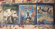 Blu-ray Lot of 3 Movies Kids & Disney Lot