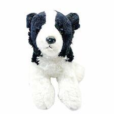 "Aurora Border Collie Puppy Dog Plush 12"" Stuffed Animal Toy Black And White 2018"