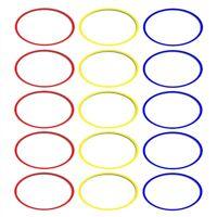 Koordinationsringe 15 Stück a 36 cm verschieden Farben Schnelligkeitstraining