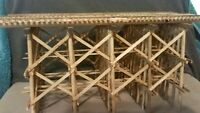 HO TRAIN TRACK DETAIL TRESTLE BRIDGE EXACTRAIL ATLAS ATHEARN FVM CORNERSTONE