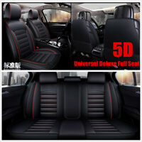 Luxury Full Seat PU Leather Car Seat Cover Cushion Pad 5D Surround Breathable