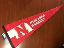 NEBRASKA HUSKERS State-Logo-Style NCAA Team Premium Felt Collectors PENNANT