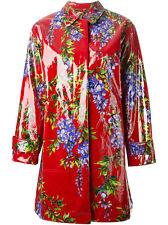DOLCE&GABBANA  WISTERIA RAINCOAT  red print  fabric cm 150 x 180 -  60x71 inches