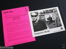 Depeche Mode 'Exciter Tour' 2001 Press Kit-Photo