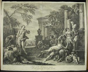 Bacchanal Baccanal Chez Pan Satyrs 1763 Giacomo Leonardus Ap Sebastiano Ricci