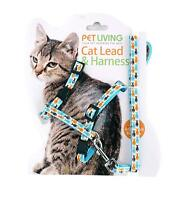 Pet Living Fully Adjustable Cat Harness and Lead/Leash/Collar (PET6484)