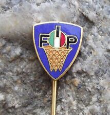 Antique FIP Italian Basketball Federation Association Net Ball Members Pin Badge