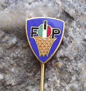 Antique FIP Italian Basketball Federation Association Net Ball Members Pin Badge