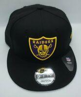 NEW ERA 9FIFTY SNAPBACK HAT.  NFL.  RAIDERS.  BLACK