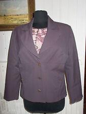 Veste blazer coton polyamide mauve CHRISTINE LAURE 44FR 42D Boutons carrés
