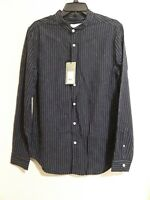 Mens dress shirt long sleeves button front brand Goodfellow NWT color navy