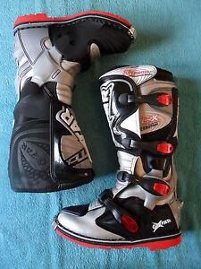 * TCX Oxtar Supermoto, Supermotard Boots, Velcro Soles, size EU 41