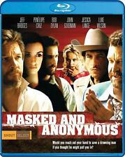 Masked and Anonymous (Blu-ray, 2020) Bob Dylan, Jeff Bridges! BRAND NEW!