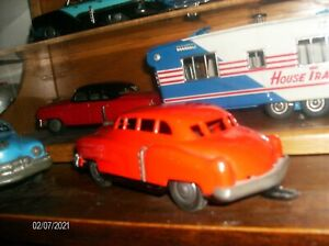 VINTAGE 1948 TIN CADILLAC with Trailer Hitch for Camper Rare Early Version 100%