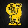 NO DRAMA LLAMA Lama Alpaca Alpaka Gelb Yellow Auto Vinyl Decal Sticker Aufkleber