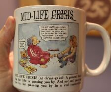 RARE MUG!! Based On The 1982 Board Game Mid Life Crisis Game Works Collectible