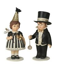 Bethany Lowe Up At Midnight Td8569 Set of 2 New Years Eve Girl and Boy