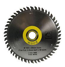 160 X 20 X 48T TCT Sawblade For Wood - Same as Festool 491952