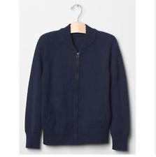 Boy GAP School Uniform Warm Sweater Navy Zipper Bomber Cotton Wool Size 8 $39.95
