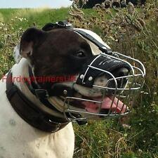 New Amstaff Dog Muzzle Basket   Padded Dog Muzzle for Staffy UK Bestseller