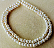 Beautiful 6mm Glass Pearls - 50cm String (100+ Beads) - Beautiful Bridal Ivory