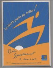 SERIGRAFIA SU TAVOLETTA DI LEGNO SU CENTO (42/100)  1995 - SAINT BRIEUC - SPORT