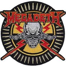 Official Licensed - Megadeth - Skull & Bullets Embroidered Woven Patch Metal