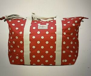 CATH KIDSTON BUTTON SPOT Cranberry RED FOLDAWAY TRAVEL BAG BNWT FREE POSTAGE