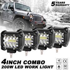 4PCS 4 pulgadas CREE LED Luz de Trabajo Barra REFLECTOR inundación Off Road Truck Luces Antiniebla inversa