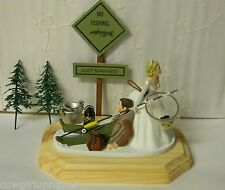 Wedding Party Reception ~Fishing~ Cake Topper Custom Deluxe Design Sign Pole