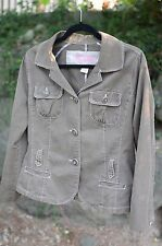 Nori ~ Size 1 ~ Olive Army GREEN Cargo Military Lightweight Womens Jacket Cotton
