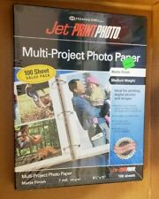 HammerMill Jet Print Multi-Project Photo Paper...NEW SEALED...100 Sheets Matte