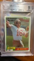 1981 Topps Joe Montana ROOKIE RC #216 BGS 9 W/ Gem Centering & Edges 2x9.5 Subs