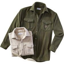 2 er Set Polar Fleece Hemden Winter Hemd oliv & beige 3XL XXXL