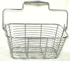 "Wire Rectangle Egg Basket w/Handle 9"" X 6"" x 4"""