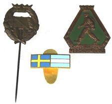 1930's Swedish Sweden Sgf Marshmarke Medal Orienteering Stick Pin & Flags F78