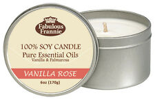 Vanilla Rose All Natural Soy Candle With Pure Essential Oils Fabulous Frannie