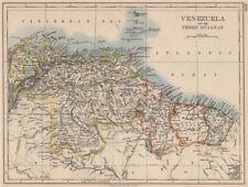 VENEZUELA / GUIANAS. Suriname. British French Dutch Guyana.  JOHNSTON 1895 map