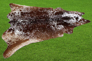 "New Cowhide Rugs Area Cow Skin Leather 22.17 sq.feet (57""x56"") Cow hide U-3826"